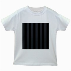 Black Stripes Kids White T Shirts