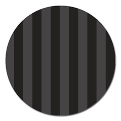 Black Stripes Magnet 5  (round)