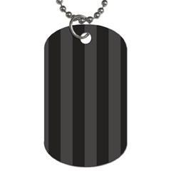 Black Stripes Dog Tag (two Sides)