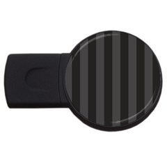Black Stripes Usb Flash Drive Round (4 Gb)