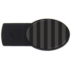 Black Stripes Usb Flash Drive Oval (4 Gb)