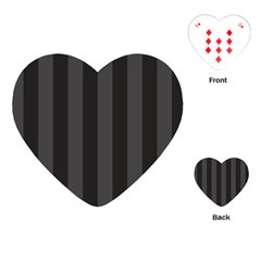 Black Stripes Playing Cards Single Design (heart)