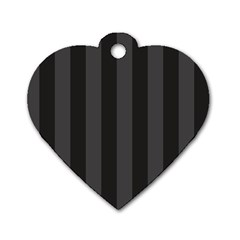 Black Stripes Dog Tag Heart (two Sides)