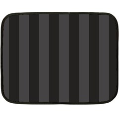 Black Stripes Double Sided Fleece Blanket (mini)