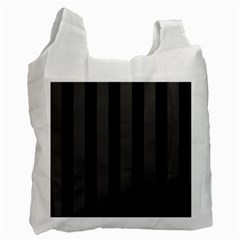 Black Stripes Recycle Bag (one Side)