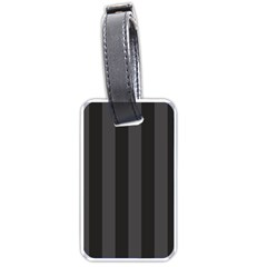 Black Stripes Luggage Tag (two Sides)