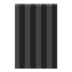 Black Stripes Shower Curtain 48  X 72  (small)