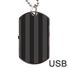 Black Stripes Dog Tag Usb Flash (one Side)