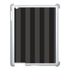 Black Stripes Apple Ipad 3/4 Case (white)