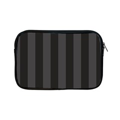 Black Stripes Apple Ipad Mini Zipper Cases