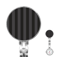Black Stripes Stainless Steel Nurses Watch