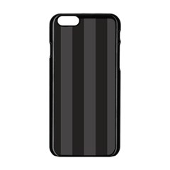 Black Stripes Iphone 6/6s Black Enamel Case
