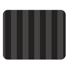 Black Stripes Double Sided Flano Blanket (large)