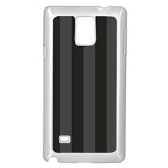 Black Stripes Samsung Galaxy Note 4 Case (white)
