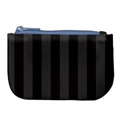 Black Stripes Large Coin Purse