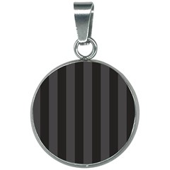Black Stripes 20mm Round Necklace