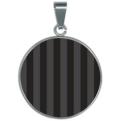 Black Stripes 30mm Round Necklace