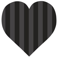 Black Stripes Wooden Puzzle Heart