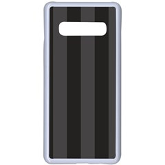 Black Stripes Samsung Galaxy S10 Plus Seamless Case(white)