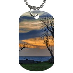Sunset Scene At Waterfront Boardwalk, Montevideo Uruguay Dog Tag (one Side) by dflcprints
