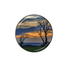 Sunset Scene At Waterfront Boardwalk, Montevideo Uruguay Hat Clip Ball Marker (10 Pack) by dflcprints