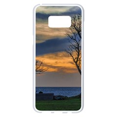 Sunset Scene At Waterfront Boardwalk, Montevideo Uruguay Samsung Galaxy S8 Plus White Seamless Case by dflcprints