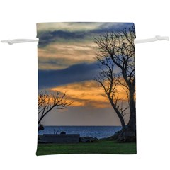 Sunset Scene At Waterfront Boardwalk, Montevideo Uruguay  Lightweight Drawstring Pouch (xl) by dflcprints