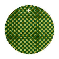 Df Green Domino Ornament (round) by deformigo
