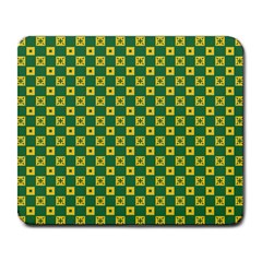 Df Green Domino Large Mousepads by deformigo