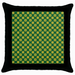 Df Green Domino Throw Pillow Case (black) by deformigo