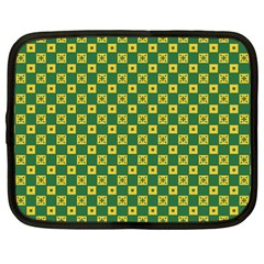 Df Green Domino Netbook Case (large) by deformigo