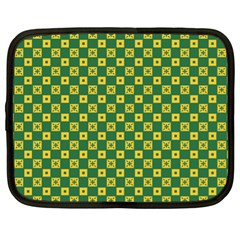Df Green Domino Netbook Case (xl) by deformigo