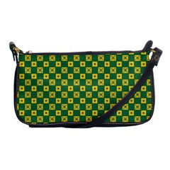 Df Green Domino Shoulder Clutch Bag by deformigo