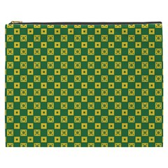 Df Green Domino Cosmetic Bag (xxxl) by deformigo