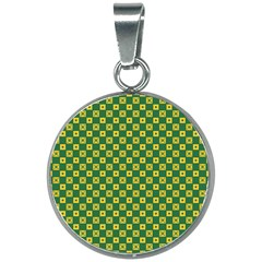 Df Green Domino 20mm Round Necklace by deformigo