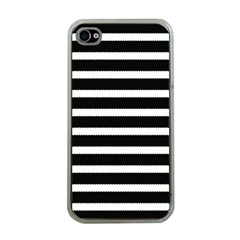 Black & White Stripes Iphone 4 Case (clear) by anthromahe