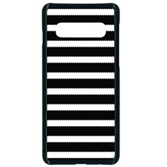 Black & White Stripes Samsung Galaxy S10 Seamless Case(black) by anthromahe