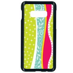 Abstract Lines Samsung Galaxy S10e Seamless Case (black) by designsbymallika