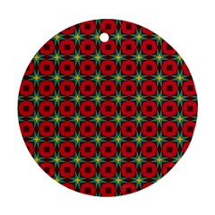 Df Jamie Greer Round Ornament (two Sides) by deformigo