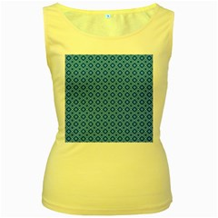 Tiling Winter Sports Dark Blue Seamless Pattern Equipment Rental At Ski Vector Id903601056 5 [conver Women s Yellow Tank Top by deformigo