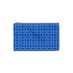 Df Blue Woollister Cosmetic Bag (small) by deformigo