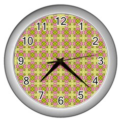 Df Blootomy Wall Clock (silver)
