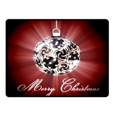 Merry Christmas Ornamental Double Sided Fleece Blanket (small)