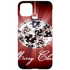 Merry Christmas Ornamental Iphone 11 Pro Max Black Uv Print Case