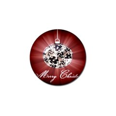 Merry Christmas Ornamental Golf Ball Marker (10 Pack) by christmastore