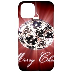 Merry Christmas Ornamental Iphone 11 Pro Black Uv Print Case