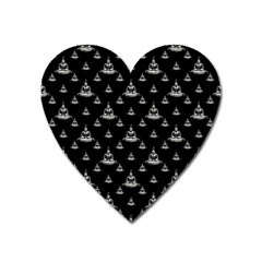 Buddhism Motif Print Pattern Design Heart Magnet by dflcprintsclothing