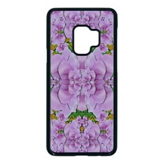 Fauna Flowers In Gold And Fern Ornate Samsung Galaxy S9 Seamless Case(black) by pepitasart