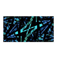 Modern Abstract Geo Print Satin Wrap by dflcprintsclothing