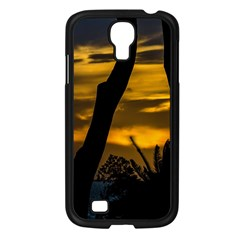 Silhouette Sunset Landscape Scene, Montevideo   Uruguay Samsung Galaxy S4 I9500/ I9505 Case (black) by dflcprints